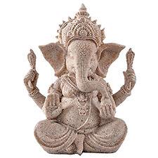 Sandstone Ganesha Buddha elephant statue sculpture handmade figure L9S2