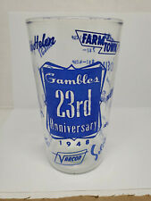 Vintage advertising measuring glass - Gambles 23rd Anniversary (1081)