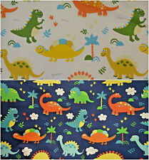 Kids, Childrens, DINOSAUR 100% Cotton CANVAS fabric 150cm Furnishing, Bags