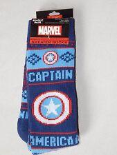 NEW Captain AMERICA Comics Sweater Long Tube Casual Boot Socks OSFM Thermal Warm