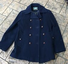 Women's Mackintosh 100% Wool Navy Authentic Peacoat Sz 10 Double Breasted