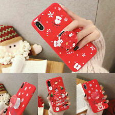 Cute Christmas Case Cover with Pop Up Holder for iPhone 11 Pro Xr Xs 8 7 Plus 6s