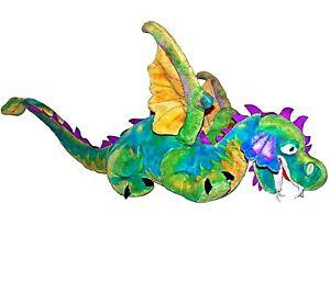 Melissa and Doug Giant Rainbow Plush Winged Mystic Dragon Stuffed Animal 3 feet