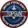 Top Gun Patch Embroidered Iron/ Sew-On Navy Air Force Fancy Dress Badge