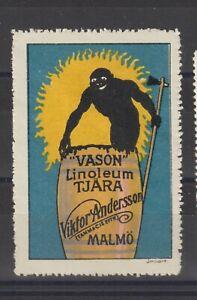 Swedish Poster Stamp Linoleum Image
