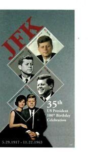 Nevis - 2017 -  President John F. Kennedy Birthday  - Sheet of Four  - MNH
