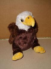Ganz WEBKINZ  HM214 BROWN WHITE AND YELLOW EAGLE Plush Stuffed Animal NO CODE