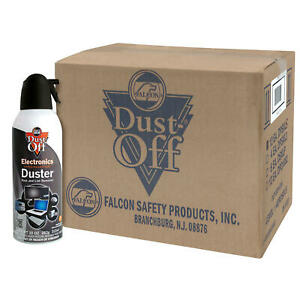 12 Cans Falcon Dust-Off Compressed Gas Air Duster Cleaner 10 oz Blower