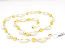 Italy Necklace Inch19.68 Mother of Pearl g.20,5 Hand Made 18k Gold Free Shipping