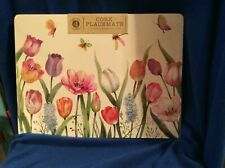 BENSON MILLS TULIPS THEME CORK PLACEMATS-SET OF 4-NEW