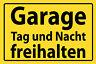 Garaje Día y Noche Dejar Libre Letrero de Metal Cartel Lata 20 X 30cm FA0968