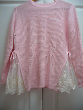 NEW PINK SIDE LACE TOP MADE IN KOREA