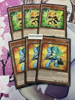 YUGIOH Deskbot 001 003 - SR10-EN021 EN022 - Common x3 - Mint MECHANIZED MADNESS