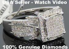 .64 CARAT WOMENS LADIES WHITE GOLD FINISH DIAMOND ENGAGEMENT BRIDAL WEDDING RING