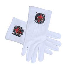Masonic The Knights Of Templar White Cotton Gloves. Freemasons. Masonic Regalia