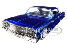 "1964 CHEVROLET IMPALA BLUE ""LOWRIDER SERIES"" STREET LOW 1/24 DIECAST JADA 98932"