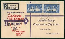 Mayfairstamps Southwest Africa 1947 Luderitz Princess Elizabeth First Day Cover