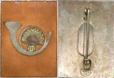 239° Régiment d'Infanterie, émail, rectangle, dos lisse gravé, Moret (4328)