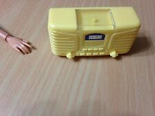 Barbie Doll My Scene Chelsea Style Room Getting Ready Yellow Old Fashioned Radio