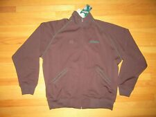 9W/STALL & DEAN FULL ZIP ATHLETIC JACKET/BROWN/TRACK/POCKETS/3XL/NWT/RET. $120!