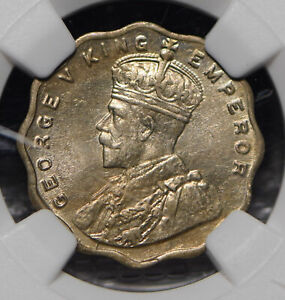 British India 1919 Anna NGC MS63 NG0923 combine shipping