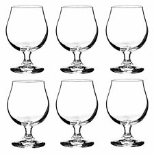 BRUSSEL 300ml - Rounded Beer/ Cider Glass  Stemmed Goblet Cup (set of 6) by Sahm