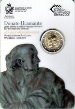 2 EURO COMMEMORATIVO SAN MARINO 2014 Bramante