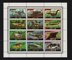 Guyana - #725 - L.A. Olympics Overprint sheetlet, cat. $ 80.00