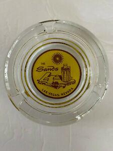 The Sands Hotel Las Vegas Nevada Vintage Glass Advertising Casino Ashtray