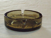 VINTAGE  TOBACCO CIGARETTES DORTMUNDER ACTIEN BRAUEREI GERMANY GLASS ASHTRAY