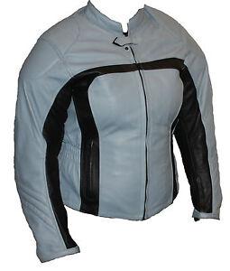 Motorradjacke Damen Jacke Leder Bikerjacke Lederjacke Frauenjacke Protektoren