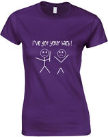 I got your Back, Stick Figure Inspired Ladie's Printed T-Shirt Soft Women Tshirt