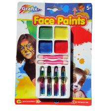 Face Painting Mixed Colours Set – Face Paints / Face Crayons & Applicators