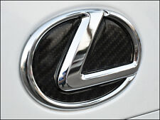 CARBON FIBER REAR TRUNK EMBLEM FILLER INSERT DECAL - 2014-2016 LEXUS IS250 IS350