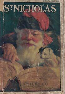 1921 St. Nicholas December - Santa Claus; toy ads; aeroplanes; Twins