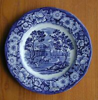 "STAFFORDSHIRE LIBERTY BLUE CHINA 5 7/8"" BREAD & BUTTER PLATE (S)"