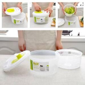 Plastic Large Salad Spinner Leaf Dryer Lettuce Veg Drainer Dressing Herb Water