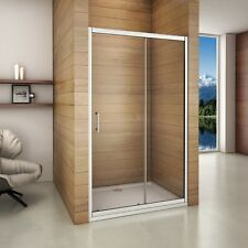 1400x700mm Sliding Shower Enclosure Walk in Glass Screen Door Side  Tray KL