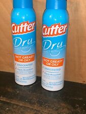 2 Cutter Backwoods Dry Insect Mosquito Repellent Aerosol Spray 4 oz 10% DEET