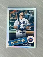 2020 Topps Chrome Ben Baller X Edition - 1985 Pete Alonso Refractor - Mets SP