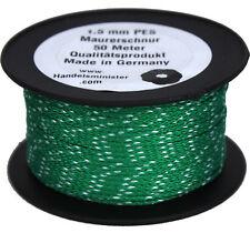 50m Maurerschnur 1,5mm Schnur Leine 40kg grün weiß Poyester PES Lot Richtschnur