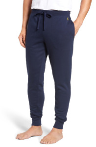 NWT Polo Ralph Lauren Brushed Jersey Cotton Blend Jogger Pants, size L, Navy