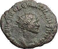 Quintillus  270AD Authentic Rare Ancient Roman Coin Concordia Harmonia  i58951