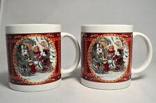 Two Ceramic Mugs - Set of 2 Victorian Rabbits