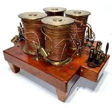 1880 Quadra-Coil Electro-Magnetic Demonstration Device Ex-Smith College Lab