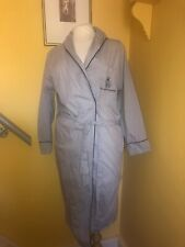 ORIENT EXPRESS GREY COTTON DRESSING GOWN ROBE