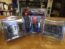 Motorola Talkabout FV300 Two Way Walkie Talkie Radios 2 Hands Free Headset Lot