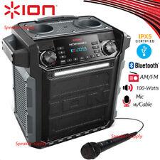 ION Pathfinder 2 Waterproof Rechargeable Bluetooth Speaker FM Radio Mic Rugged