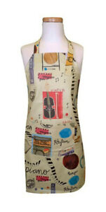 Child Noteables Chef Cooking or Craft Apron, Kids, Music Print, Wipe Clean