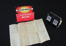 Vintage Stereoclic Bruguière en boîte stéréoscope automatique à mise au point